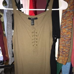 Olive green bodycon tight dress laced
